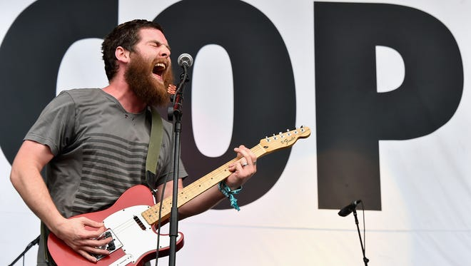 Andy Hull of Manchester Orchestra performs during the Firefly Music Festival on June 19, 2015 in Dover, Delaware.