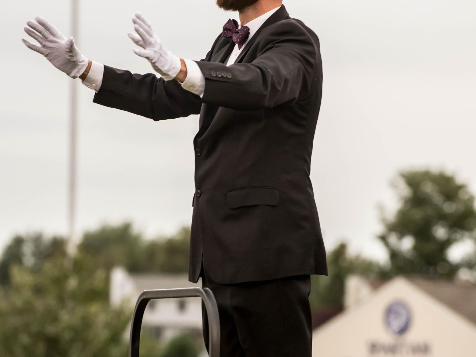 Lakeview's band director during Friday evenings home comming events.