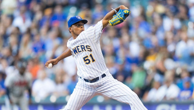The Brewers get another solid effort from rookie starting pitcher Freddy Peralta as he allows just one run on three hits with three walks and six strikeouts against the Braves on Friday night.