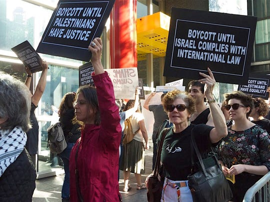 A 2016 rally outside Gov. Andrew Cuomo's New York City office advocated for the The Boycott, Divestment, Sanctions (BDS) movement, which works to end international support for Israel's oppression of Palestinians and pressure Israel to comply with international law.