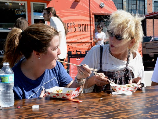 Area diners Kimberly Krienke and Vickie Milam enjoyed