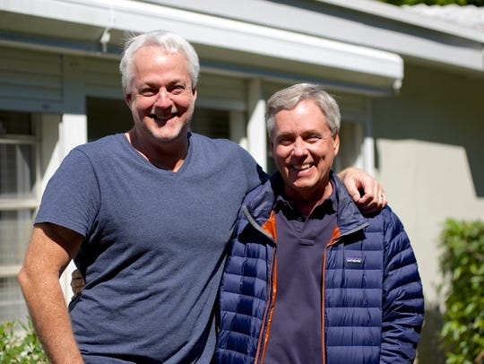 Rob and Carl Hiaasen pose in this undated picture.