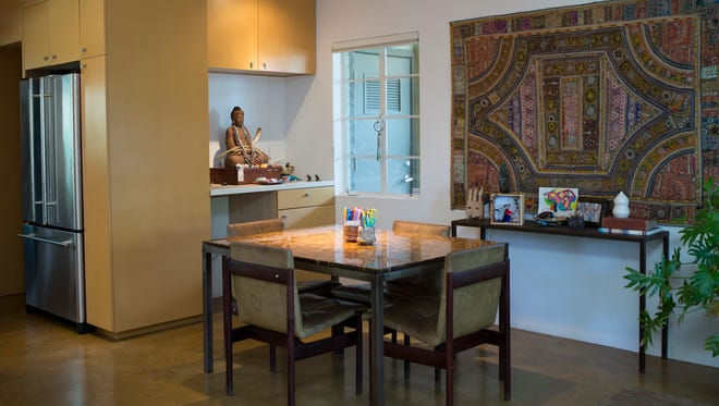 The dining area of Carrie Bloomston's Phoenix home, November 13, 2014.