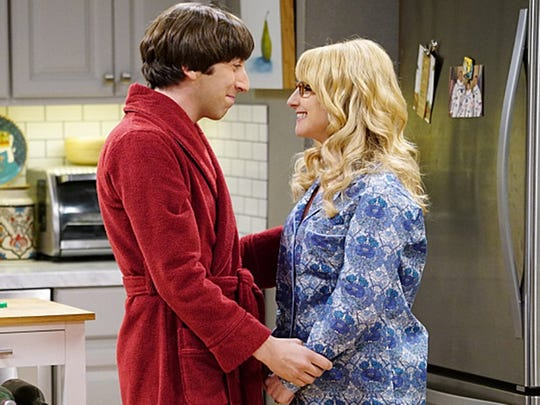 """Simon Helberg, who stars with Melissa Rauch, has appeared on """"The Big Bang Theory"""" for all nine seasons."""