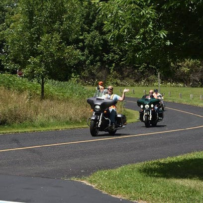 Laurie Ziegler and her husband, Jon, cannot wait to participate in the first Rhythm Road Rally charity event for the Ozaukee Volunteer Center on Sept. 4. They ride their Harleys regularly, most recently enjoying the scenic views of Kettle Moraine.
