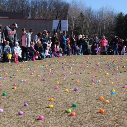 Mishicot Egg Hunt drew more than 400 kids
