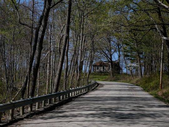 A cabin is seen along Laurel Ridge Road in Sunfish