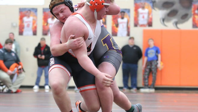 Heavyweight A.J. Adams has given Lexington coach Andrew Heath his first state qualifier.