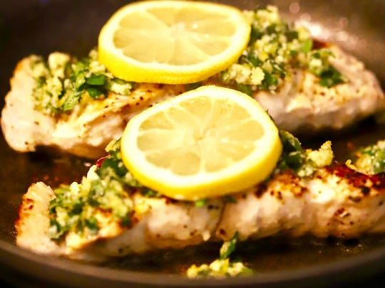 Easy Pan Seared Grouper with Gremolata, a cross between