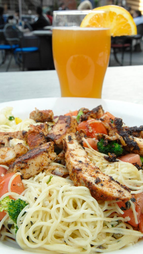 Cappellini with grilled chicken at the old Behle Street