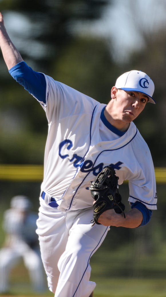 Cedar Crest's Nate Cavic delivers a pitch as Northern