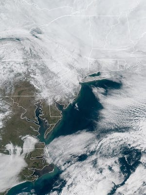 A satellite image of New Jersey and the Northeast this morning. Another storm could be headed our way next week.