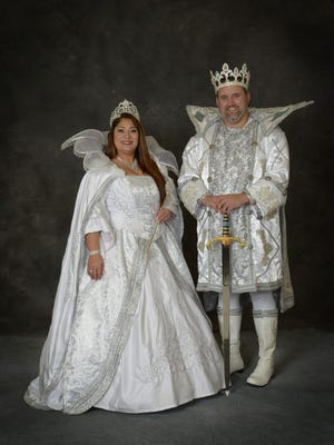 Krewe of Janus XXXIII Queen Lucy Holtzclaw and King Michael Brown.