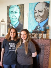 Carol Murray, left, and daughter Jessica Edwards co-own Frank & Joe's, which recently opened in Parker Square. The duo named the business after city founders Frank Kell and Joseph A. Kemp.