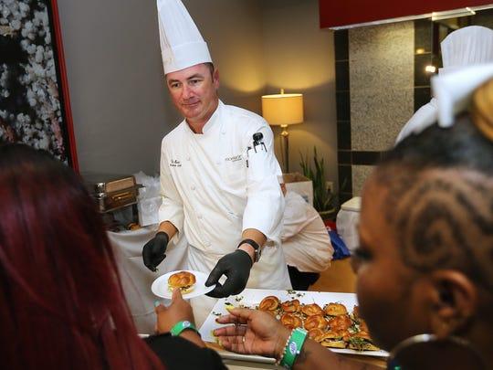 Democrat files Chef Tim Spain offered tasty sliders