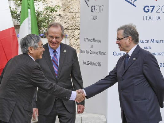 EPA ITALY ITALY G7 FINANCE MINISTERS MEETING POL DIPLOMACY TREATIES & ORGANISATIONS ITA