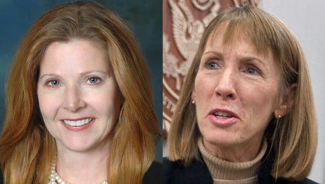 Kathleen Prendergast, left,  and Christy Fawcett