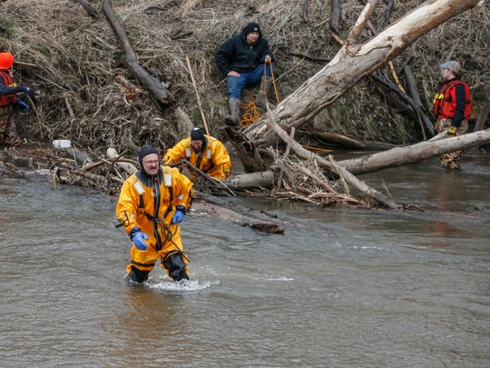 Search and rescue crews from various agencies around Black Hawk County continued the search for 16-year-old Jake Wilson on Friday, April 13, 2018, in La Porte City. Wilson went missing Saturday after he went for a walk.