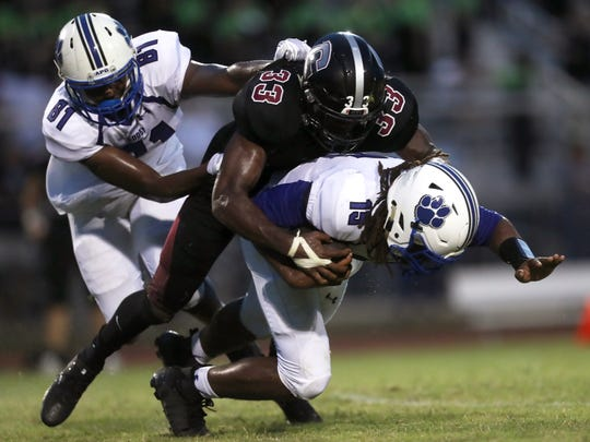 Chiles's Amari Gainer sacks the quarterback, Godby's
