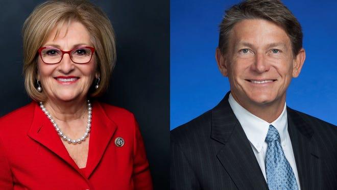 Gubernatorial candidates Diane Black and Randy Boyd