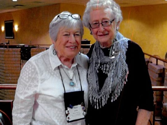 Juanita Hogenson, right, with Bev Hinds of Sioux City, Iowa, one of the visitors she hosts at her home in Great Falls.
