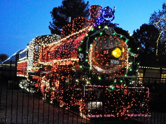 Christmas spirit rides the rails during Holiday Lights