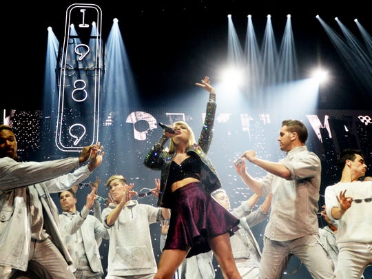 Taylor Swift performs in her 1989 World Tour at the