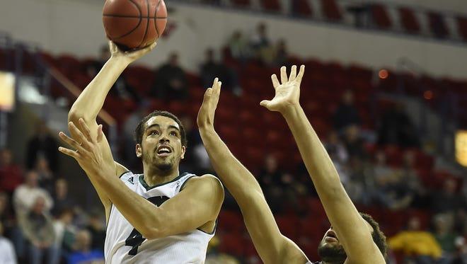 UWGB senior Jordan Fouse had a career-high 16 rebounds against Akron.