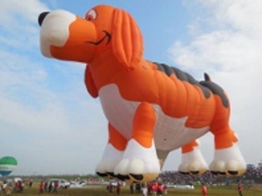 The balloon, Beagle Maximus, will appear at the Balloons Over the Lakeshore this weekend in Manitowoc.