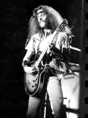 Ted Nugent onstage at the MSU Auditorium, Feb. 29, 1976.