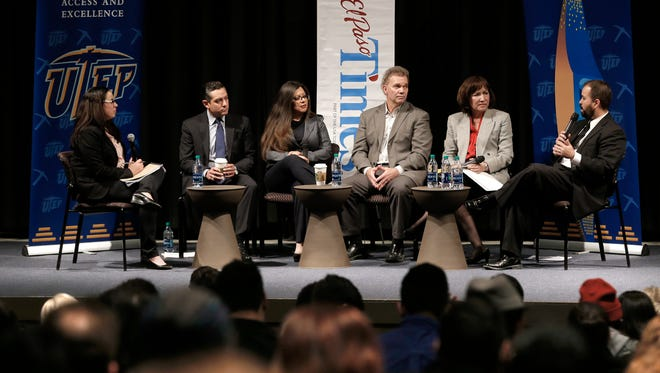 El Paso Times' Investigations Editor Zahira Torres led the El Paso Times' second 'Times Live' event Friday at UTEP where state legislators discussed issues important to El Pasoans. On the panel were Texas State Representatives Cesar Blanco (District 76), Mary Gonzalez (District 75), Joe Pickett (District 79), Lina Ortega (District 77) and Joe Moody (District 78).