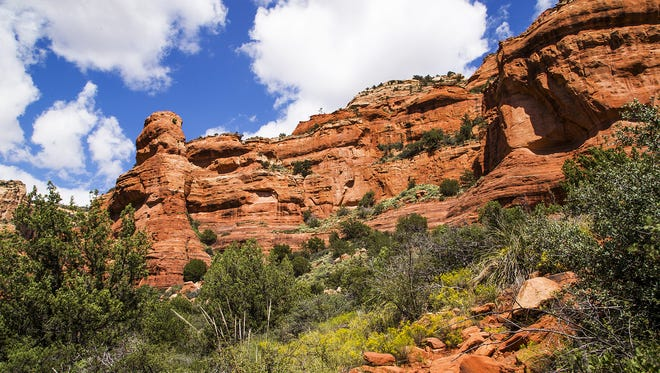 The view from the Fay Canyon Trail near Sedona shows the area's beautiful colors.