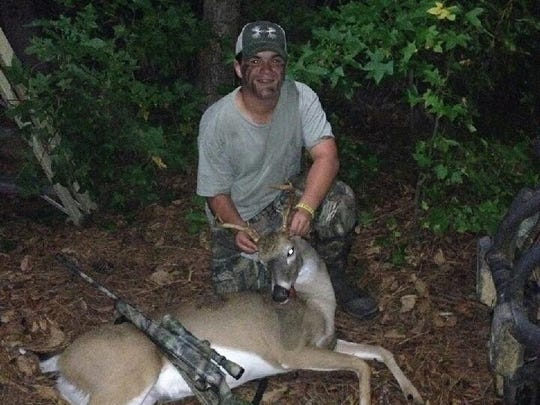 Keegan Fort with his 6-point harveted over the weekend.