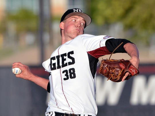 Kyle Bradish took the mound for the Aggies on Thursday night as they took on Cal State Bakersfield.