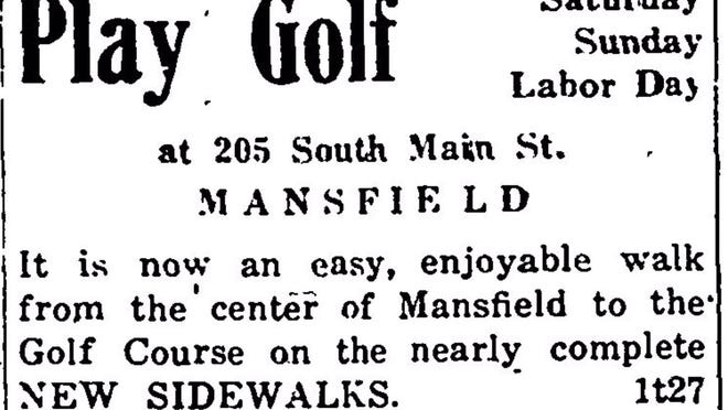 George F.F. Roberts opened a mini golf course in April of 1931 at 205 South Main St.