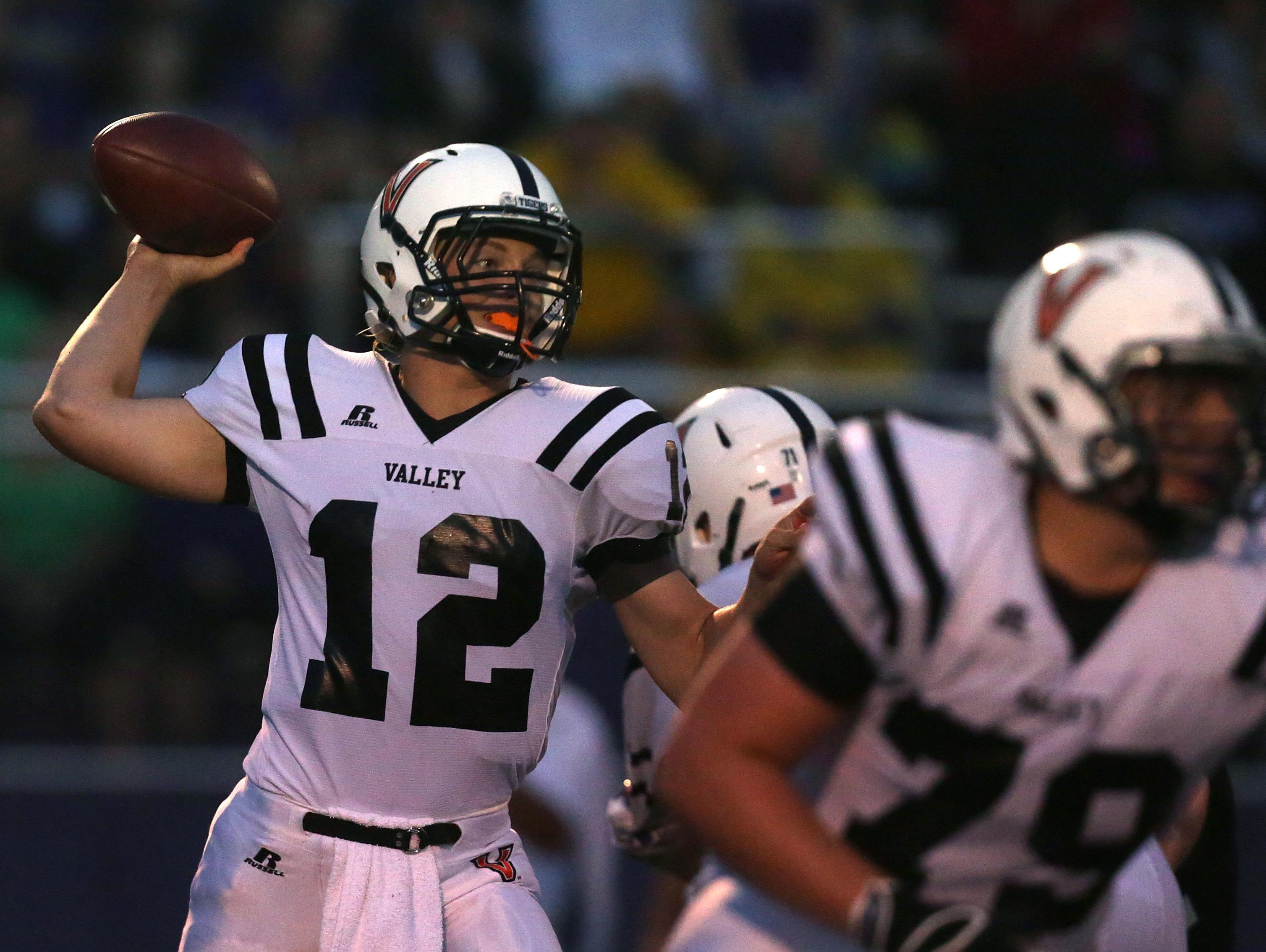 """Valley junior quarterback Rocky Lombardi added almost 10 yards to his throwing distance this past offseason. He also visited nine Division I quarterback camps. """"One of the adjustments I made was keeping my non-throwing hand close to my body,"""" he said."""