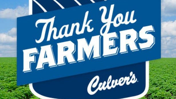 Culver's was recognized by the Wisconsin Association of Agricultural Educators for its support of agricultural education through Thank You Farmers with the Outstanding Cooperation Award.