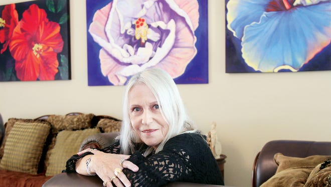 Artist  Kyra Belan at her Cape Coral home