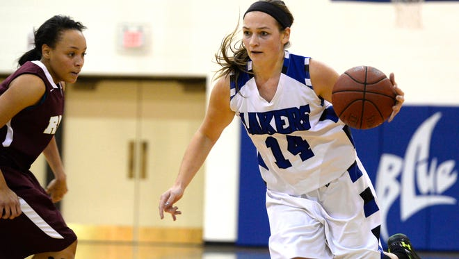 Silver Lake College junior Amanda Kudick, a Kewaunee native, has helped lead the Lakers' women's basketball team this season.