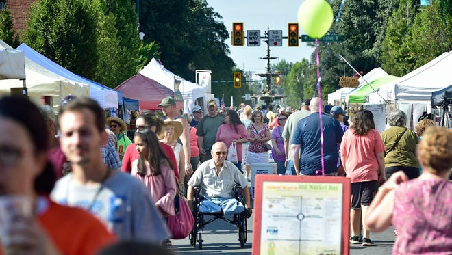 A file photo of crowds enjoying ChambersFest Old Market Day street festival on Saturday, July 15, 2017 in Chambersburg.