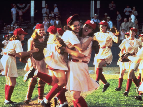 Madonna hugs co-star Rosie O'Donnell in 'A League of