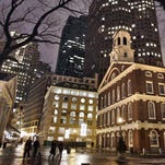 Faneuil Hall, right, in downtown Boston is one of the historic sites on Boston's Freedom Trail.