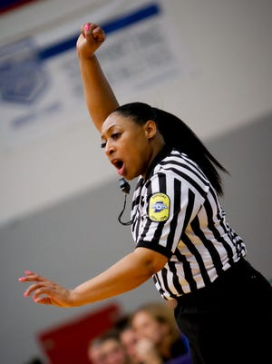 Laschelle Hatcher will be the first African-American woman to officiate in boys tournament.