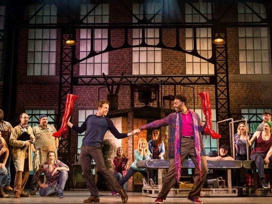 The cast of 'Kinky Boots' performs in the production's