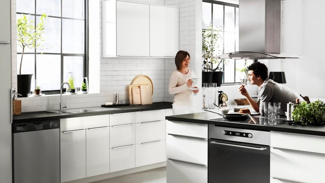 Ikea's Akurum kitchen cabinets.