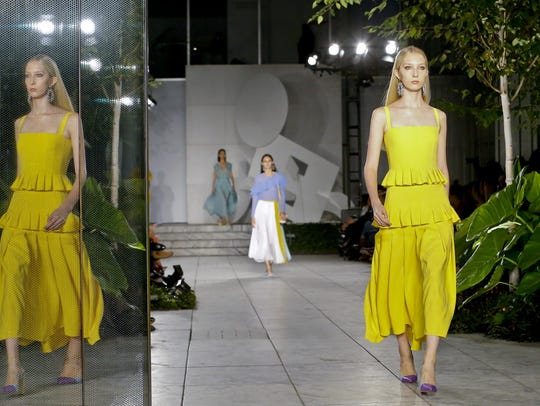 Carolina Herrera's spring collection was shown in the