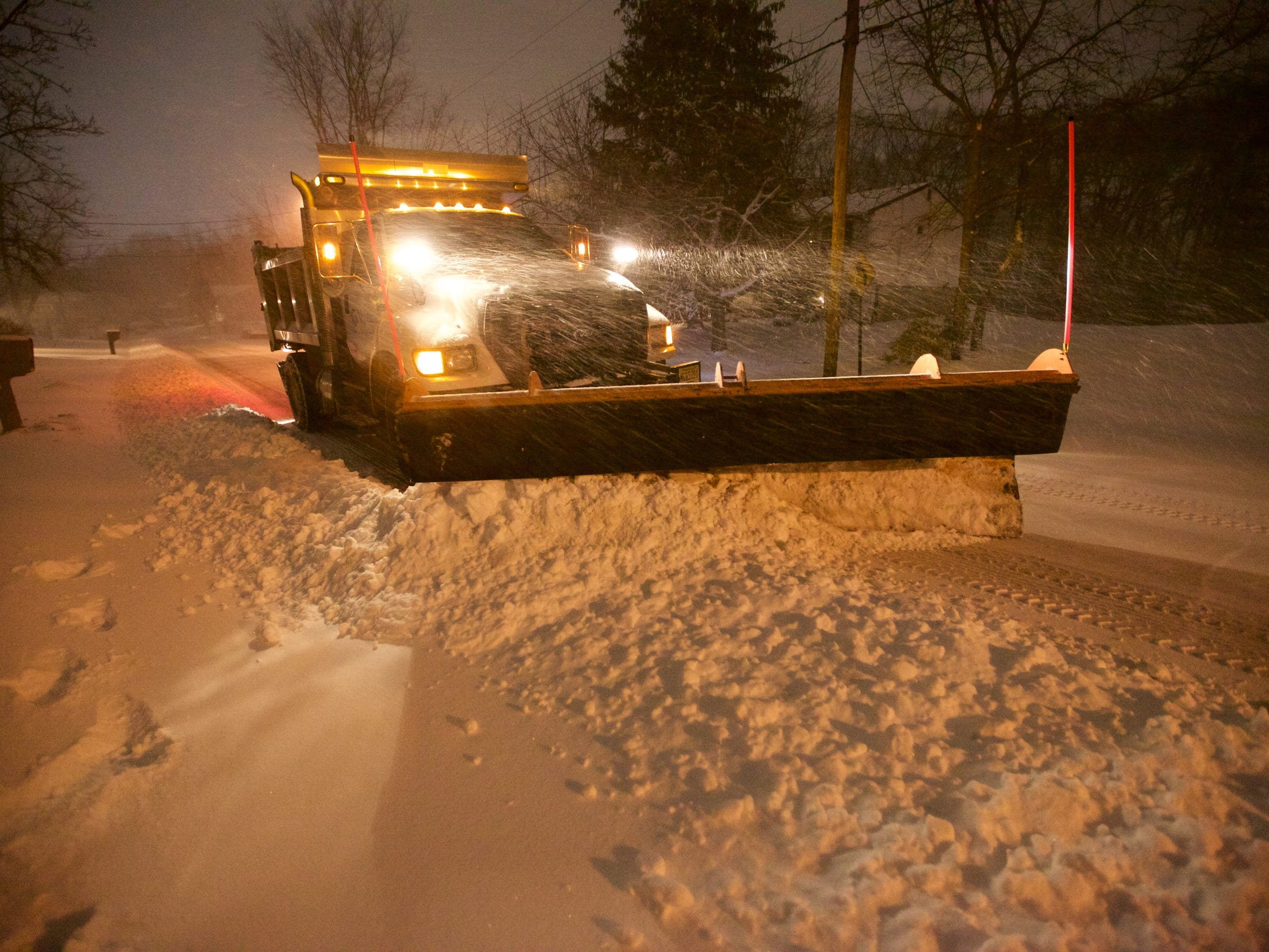 Crews started plowing later than expected because the