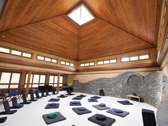 Find your seat and center your mind inside Omega's Sanctuary; a space for contemplation and daily meditation classes.