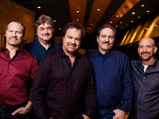 Restless Heart is celebrating 35 years as a band. From left are Dave Innis, Greg Jennings, Larry Stewart, John Dittrich and Paul Gregg.