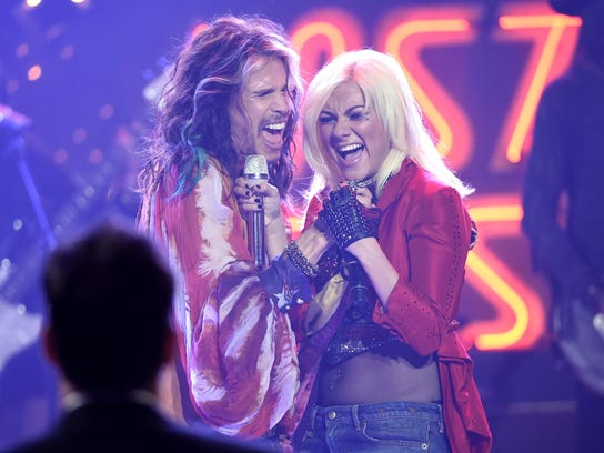 """Steven Tyler and Jax perform at the """"American Idol"""""""